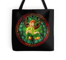 Peter Pan Stained Glass Tote Bag