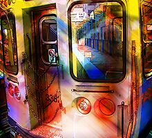 kimball train, brown line, chicago by brian gregory