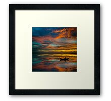 Sunset in Thailand Framed Print