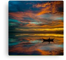 Sunset in Thailand Canvas Print
