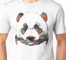 Panda Bear Art - Black White Red - By Sharon Cummings Unisex T-Shirt