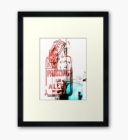 no parking in alley Framed Print