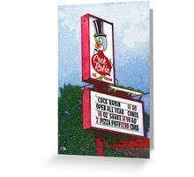 cock robin Greeting Card