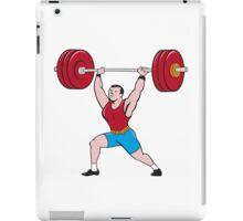 Weightlifter Lifting Barbell Isolated Cartoon iPad Case/Skin
