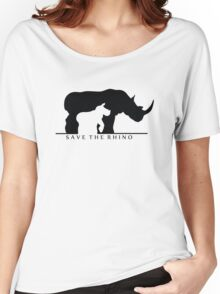 Save The Rhino (White Background) Women's Relaxed Fit T-Shirt