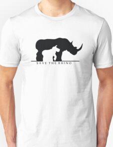 Save The Rhino (White Background) Unisex T-Shirt