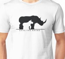 Save The Rhino (White Background) Unisex T-Shirt