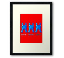Mario's Overalls (With Words) Framed Print