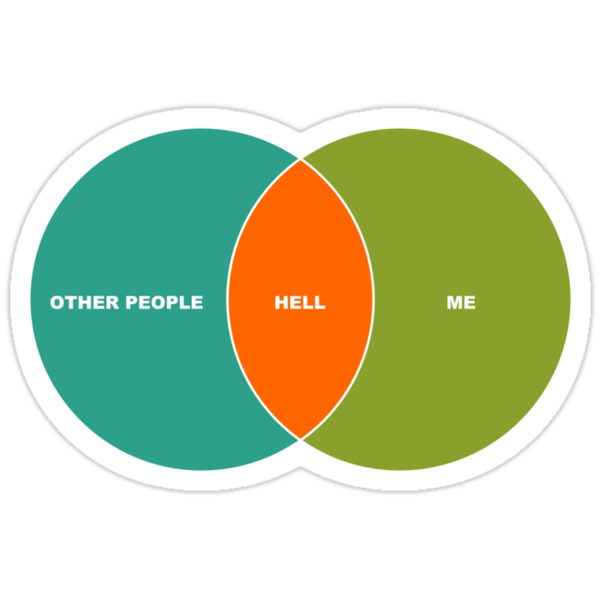 Hell is Other People - Venn Diagram by robotrobotROBOT