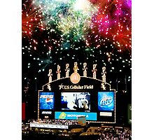 chicago white sox home run fireworks Photographic Print