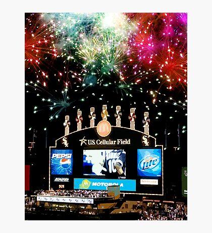 chicago white sox home run fireworks Photographic Print