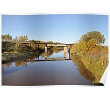 CN Rail Bridge over the Pinewood River (Ontario) Poster