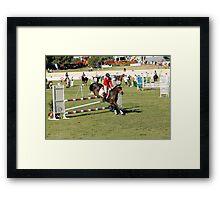 Perth Royal Show - Show Jumper - Precise Landing Framed Print