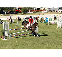 Perth Royal Show - Show Jumper - Precise Landing Photographic Print