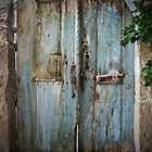 Blue Door In Shadow: Cappadocian Village by Josh Wentz