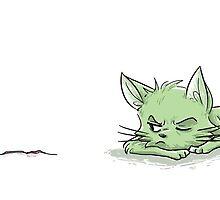 Marimo Cat Design by AmyEvergreen
