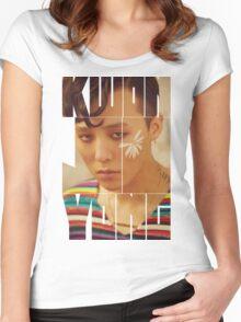 BIGBANG G-Dragon 'Kwon Ji Yong' Typography Women's Fitted Scoop T-Shirt