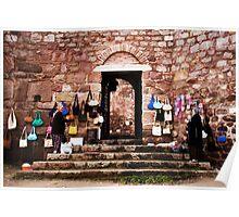 Women At The Castle Door Poster