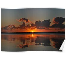 Tuggerah Lake Sunrise,30-9-2010.Australia. Poster