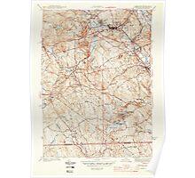 Massachusetts  USGS Historical Topo Map MA Uxbridge 352277 1944 31680 Poster