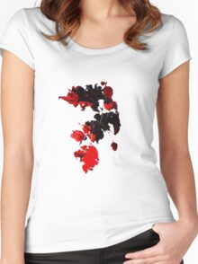 Sun-pierced Red Leaves Women's Fitted Scoop T-Shirt