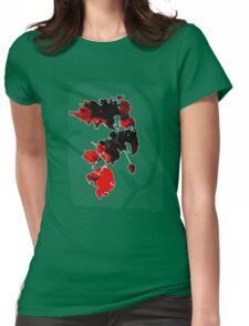 Sun-pierced Red Leaves Womens Fitted T-Shirt