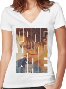 BIGBANG Taeyang 'Dong Young Bae' Typography Women's Fitted V-Neck T-Shirt