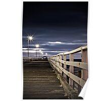 Brooding storm - Grange jetty, Adelaide. Poster