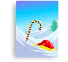Santa Claus loses its cap and stick Canvas Print