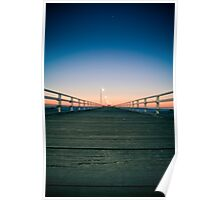 Red to Blue - Grange Jetty, Adelaide Poster
