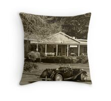 Old Cottage Cafe-Dandenong Ranges Throw Pillow