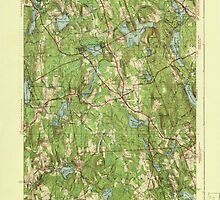 Massachusetts  USGS Historical Topo Map MA Paxton 352048 1941 31680 by wetdryvac