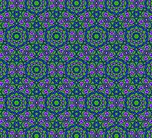 Retro Flower Pattern by Sara Pixel Pixie