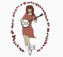 """Bluegrass Gal"" Banjo Pinup Girl Kids Clothes"