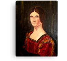 Renaissance lady oil paint study based on La belle Ferroniere Canvas Print