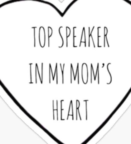 Top Speaker Sticker