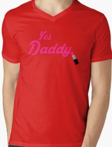 Yes Daddy Lipstick Mens V-Neck T-Shirt