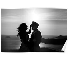 Silhouetted Couple Poster