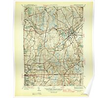 Massachusetts  USGS Historical Topo Map MA Franklin 351707 1946 31680 Poster