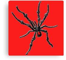Big Creepy Black Widow Spider Canvas Print
