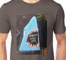 Found Art: Sidewalk Shark Unisex T-Shirt