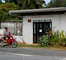 Cook Islands - Aitutaki Township by Geoffrey Grinton