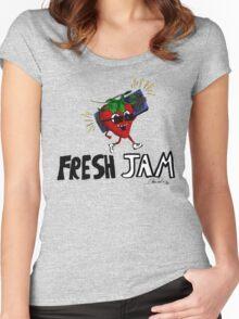 Fresh Jam  Women's Fitted Scoop T-Shirt