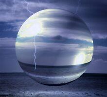 Blue Sea Hover Bubble © Vicki Ferrari by Vicki Ferrari