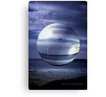 Blue Sea Hover Bubble © Vicki Ferrari Canvas Print