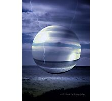 Blue Sea Hover Bubble © Vicki Ferrari Photographic Print