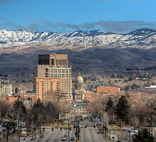 Boise Idaho Skyline by Bob Vaughan