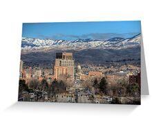 Boise Idaho Skyline Greeting Card