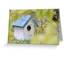 Birdhouse, #1 Greeting Card