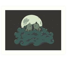 Moonlight Kiss Art Print
